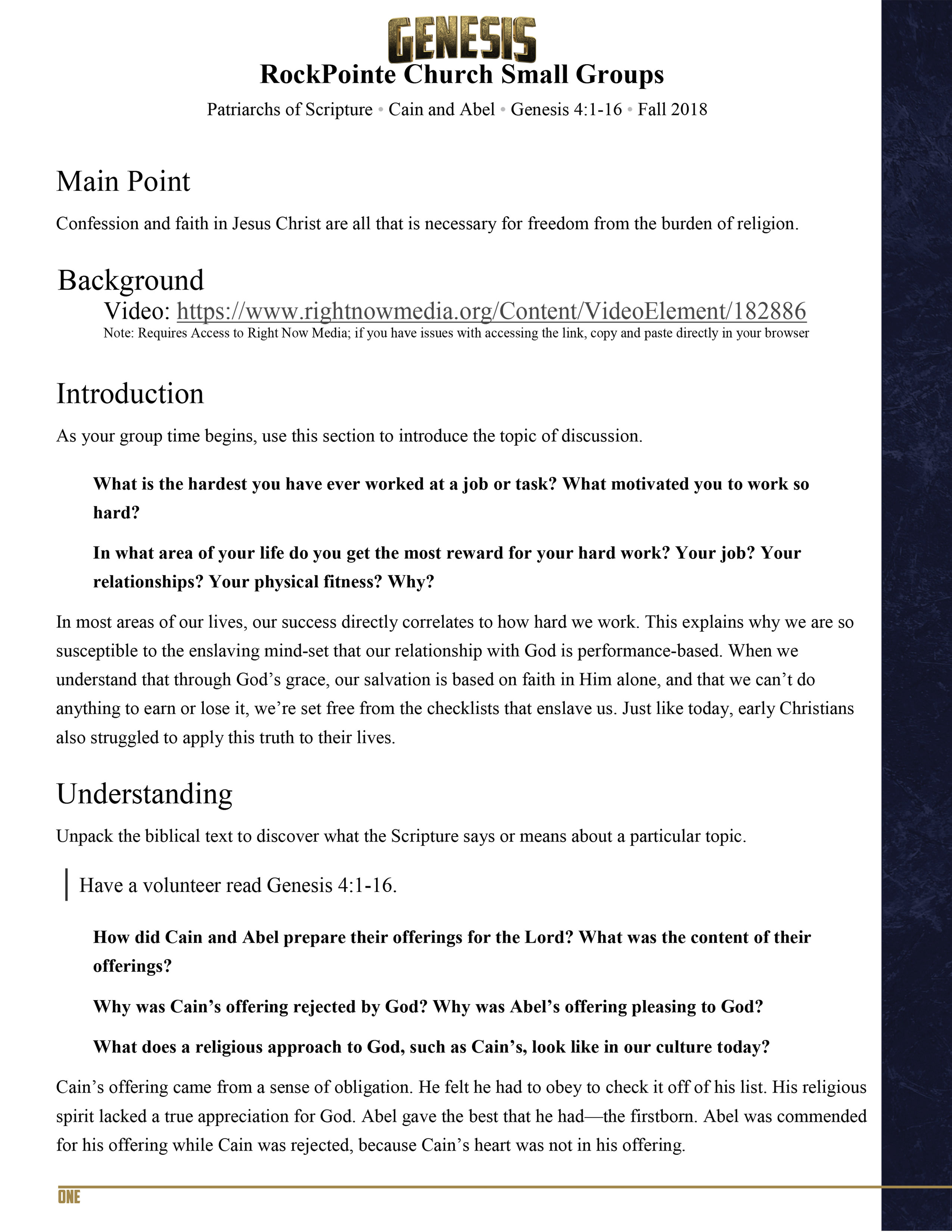 Cain-&-Abel-I-Genesis Small Group Study Guide